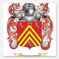 Hadley Coat of Arms (Family Crest) Square Car Magn