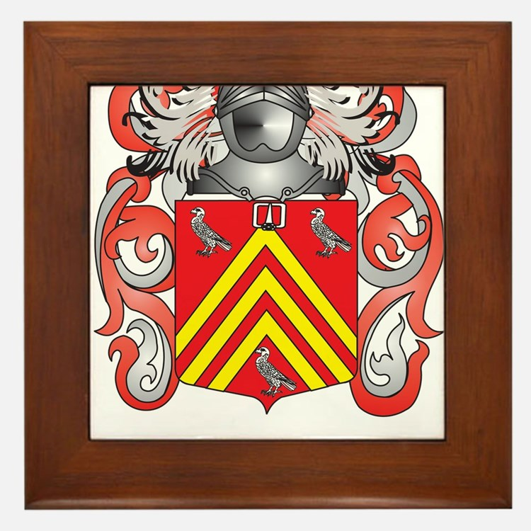Hadley Coat of Arms (Family Crest) Framed Tile