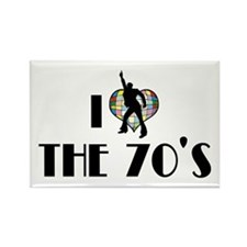 I Love The 70's Rectangle Magnet (10 pack)