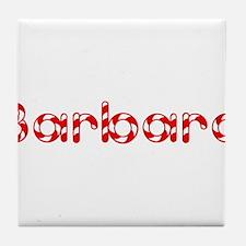 Barbara - Candy Cane Tile Coaster