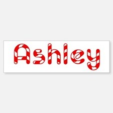 Ashley - Candy Cane Bumper Bumper Bumper Sticker