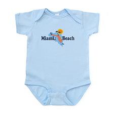 Miami Beach - Map Design. Infant Bodysuit