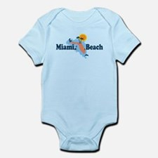 Miami Beach - Map Design. Infant Bodysuit