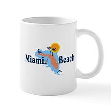Miami Beach - Map Design. Mug