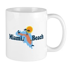 Miami Beach - Map Design. Mug
