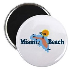 Miami Beach - Map Design. Magnet