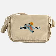 Miami Beach - Map Design. Messenger Bag