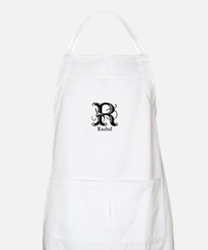 Rachel: Fancy Monogram BBQ Apron