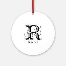 Rachel: Fancy Monogram Ornament (Round)