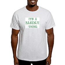 Basenji thing Ash Grey T-Shirt
