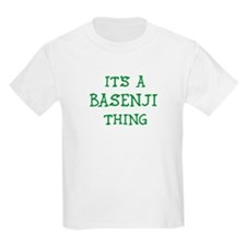 Basenji thing Kids T-Shirt