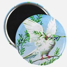 White dove vintage art Magnet