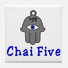 Chai five Tile Coaster