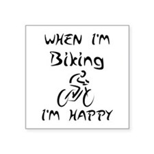 Biking (Black) Sticker