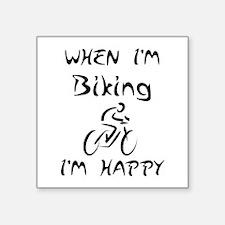 Biking (Black) Sticker
