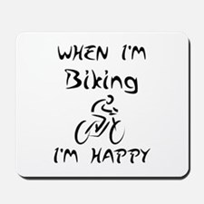 Biking (Black) Mousepad