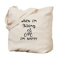 Biking (Black) Tote Bag