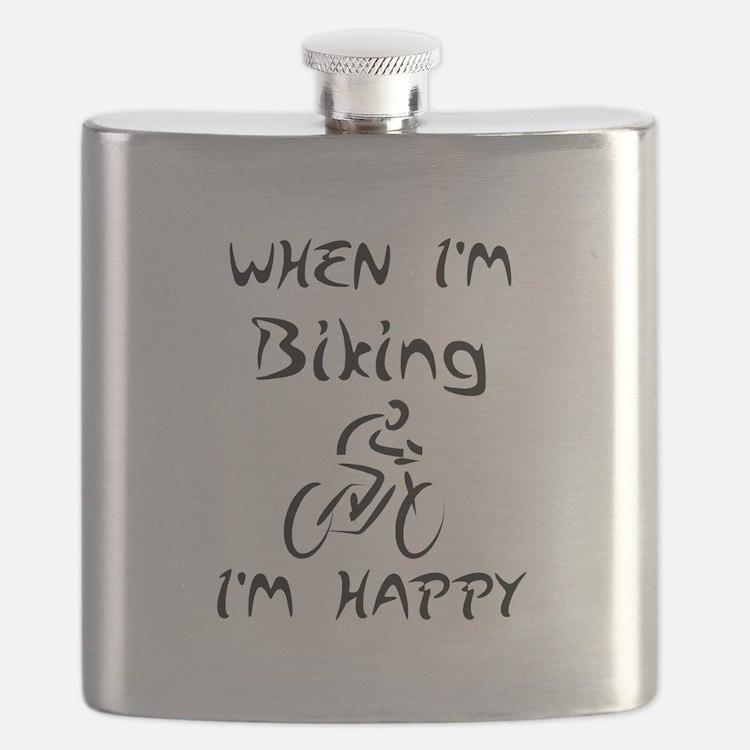 Biking (Black) Flask
