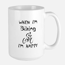 Biking (Black) Mug