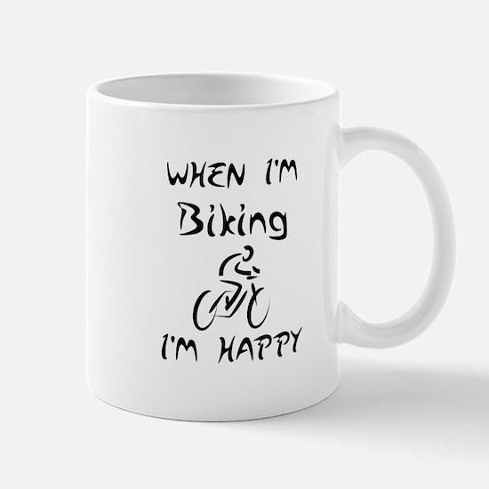 Biking (Black) Mug