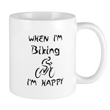 Biking (Black) Small Mug