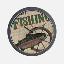 All Day Fishing Wall Clock