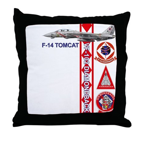 VF-102 DIAMONDBACKS Throw Pillow