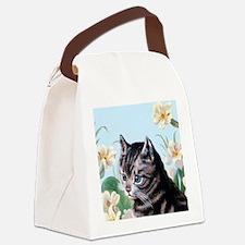Cute kitten - vintage cat Canvas Lunch Bag