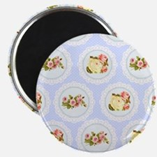 Baby blue Victorian floral pattern Magnet