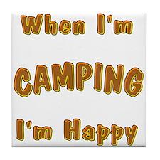 Camping Tile Coaster
