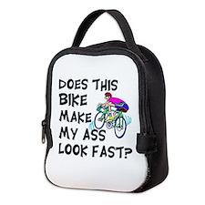 Funny Bike Saying Neoprene Lunch Bag