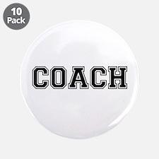 "Coach text 3.5"" Button (10 pack)"