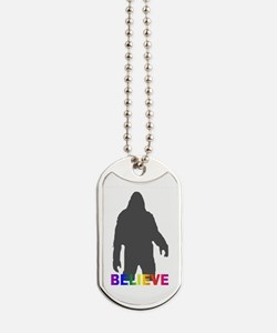 Believe in Bigfoot Dog Tags