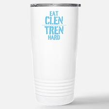 Eat Clen Tren Hard Light Blue Travel Mug
