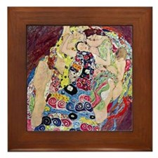 The Virgin By Gustav Klimt Framed Tile