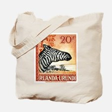 Antique 1942 Ruanda Urundi Zebra Postage Stamp Tot