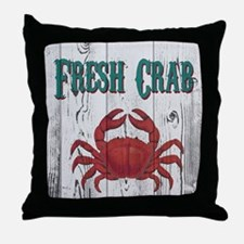 Fresh Crab Throw Pillow