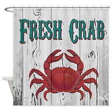 Fresh Crab Shower Curtain