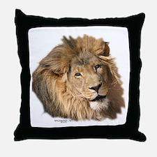 Caring Lion Throw Pillow