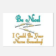 Be Nice - Nurse Humor Postcards (Package of 8)
