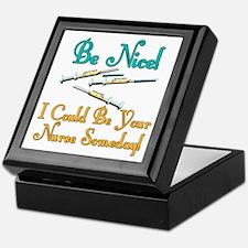 Be Nice - Nurse Humor Keepsake Box