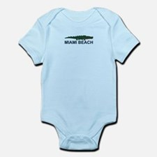 Miami Beach - Alligator Design. Infant Bodysuit