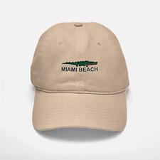 Miami Beach - Alligator Design. Baseball Baseball Cap