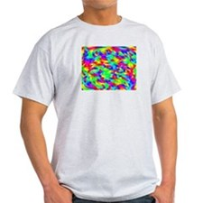 Rainbow Squiggles Ash Grey T-Shirt