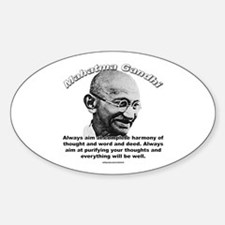 Mahatma Ghandi 01 Oval Decal