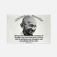 Mahatma Ghandi 01 Rectangle Magnet