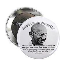 Mahatma Ghandi 01 Button