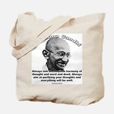 Mahatma Ghandi 01 Tote Bag