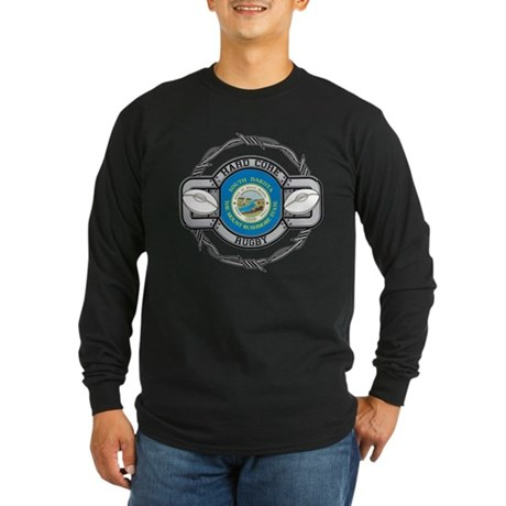 South Dakota Rugby Long Sleeve Dark T-Shirt
