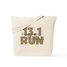 13.1 Run Tan Tote Bag